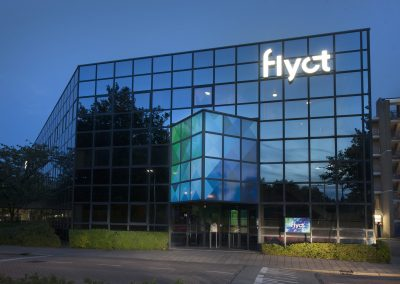 LED verlicht logo Flyct