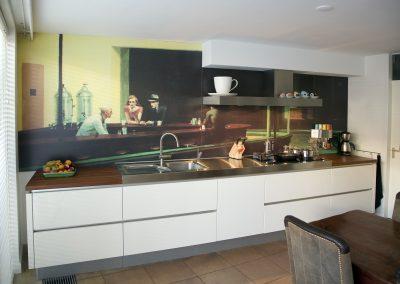 fotowand in keuken