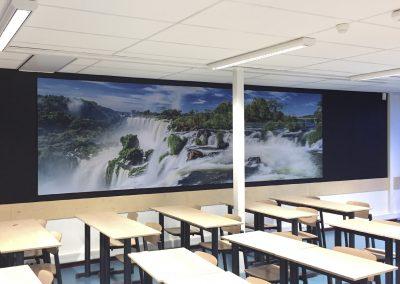 textieldoek klaslokaal
