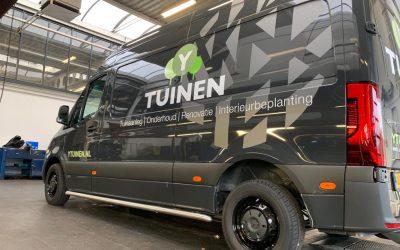 Autobelettering voor hoveniersbedrijf Y-Tuinen